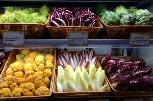 Vegetables for sale at Eatily in Bosto