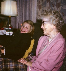 Joanne and great aunt Elizabeth